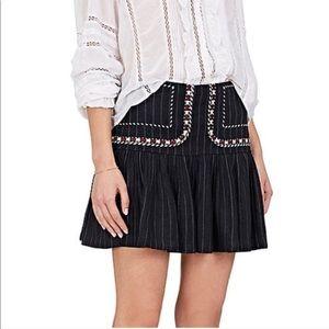 Isabel Marant Etoile Jessie Linen Mini Skirt